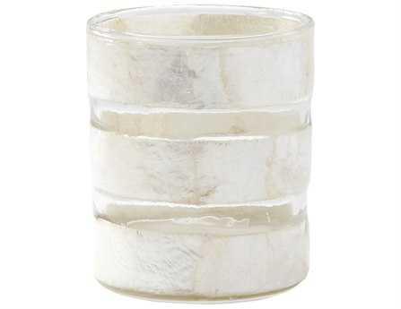 Dimond Home White Capiz Striped Votive