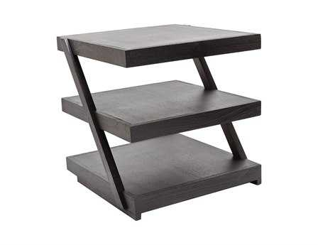 Dimond Home 20 Square Stacked Black Teak End Table