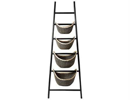 Dimond Home Black Plaid Ladder Basket