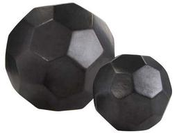 Dimond Home Matte Black Faceted Spheres