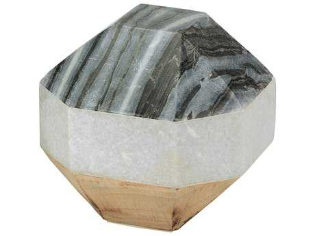 Dimond Home White Marble & Wood Dodecahedron