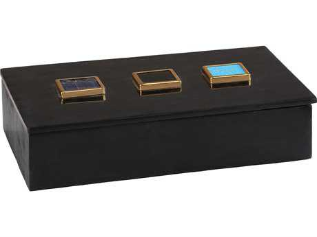 Dimond Home Antilles Black Marble & Mixed Agate Box