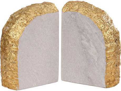 Dimond Home Glace White & Gold Bookend (Two Piece Set)