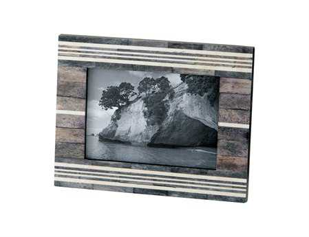 Dimond Home 4 x 6 Gray & White Horn & Bone Frame