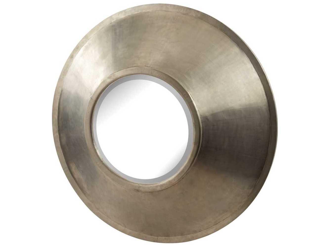 Dimond home 47 round german silver wall mirror ls985040 for Round silver wall mirror