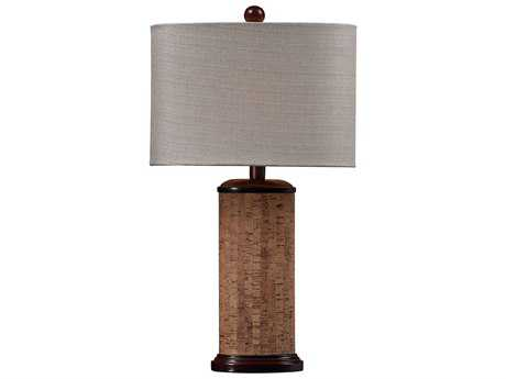 Dimond Home Cork Brown Table Lamp with Light Beige Shade