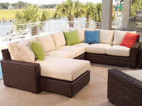 Contempo Wicker Sectional Lounge Set