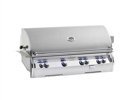 Fire Magic Echelon Diamond Stainless Steel 48'' Built-in Analog Patio BBQ Grill PatioLiving
