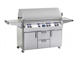 Echelon Diamond Stainless Steel 48'' On Cart Digital Patio BBQ Grill with Single Side Burner
