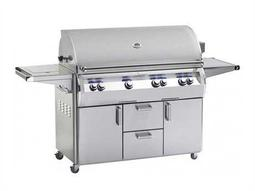 Echelon Diamond Stainless Steel 48'' On Cart Analog Patio BBQ Grill with Single Side Burner