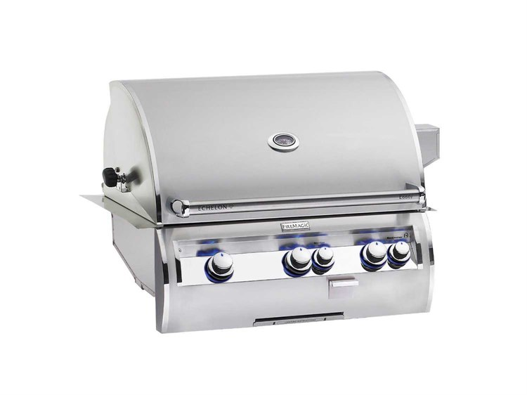 Fire Magic Echelon DiamondStainless Steel  30'' Built-in Analog Patio BBQ Grill