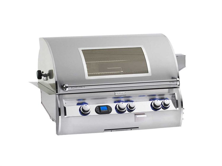 Fire Magic Echelon Diamond Stainless Steel 36'' Built-in Digital Magic View Patio BBQ Grill
