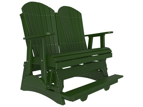 LuxCraft Recycled Plastic 4' Adirondack Counter Glider