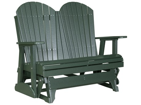 LuxCraft Recycled Plastic 4' Adirondack Glider Loveseat