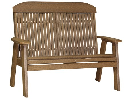 LuxCraft Recycled Plastic 4' Classic Bench
