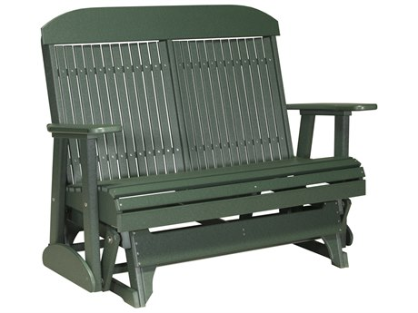 LuxCraft Recycled Plastic 4' Classic Glider Loveseat
