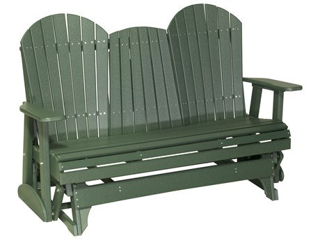 LuxCraft Recycled Plastic 5' Adirondack Glider Loveseat