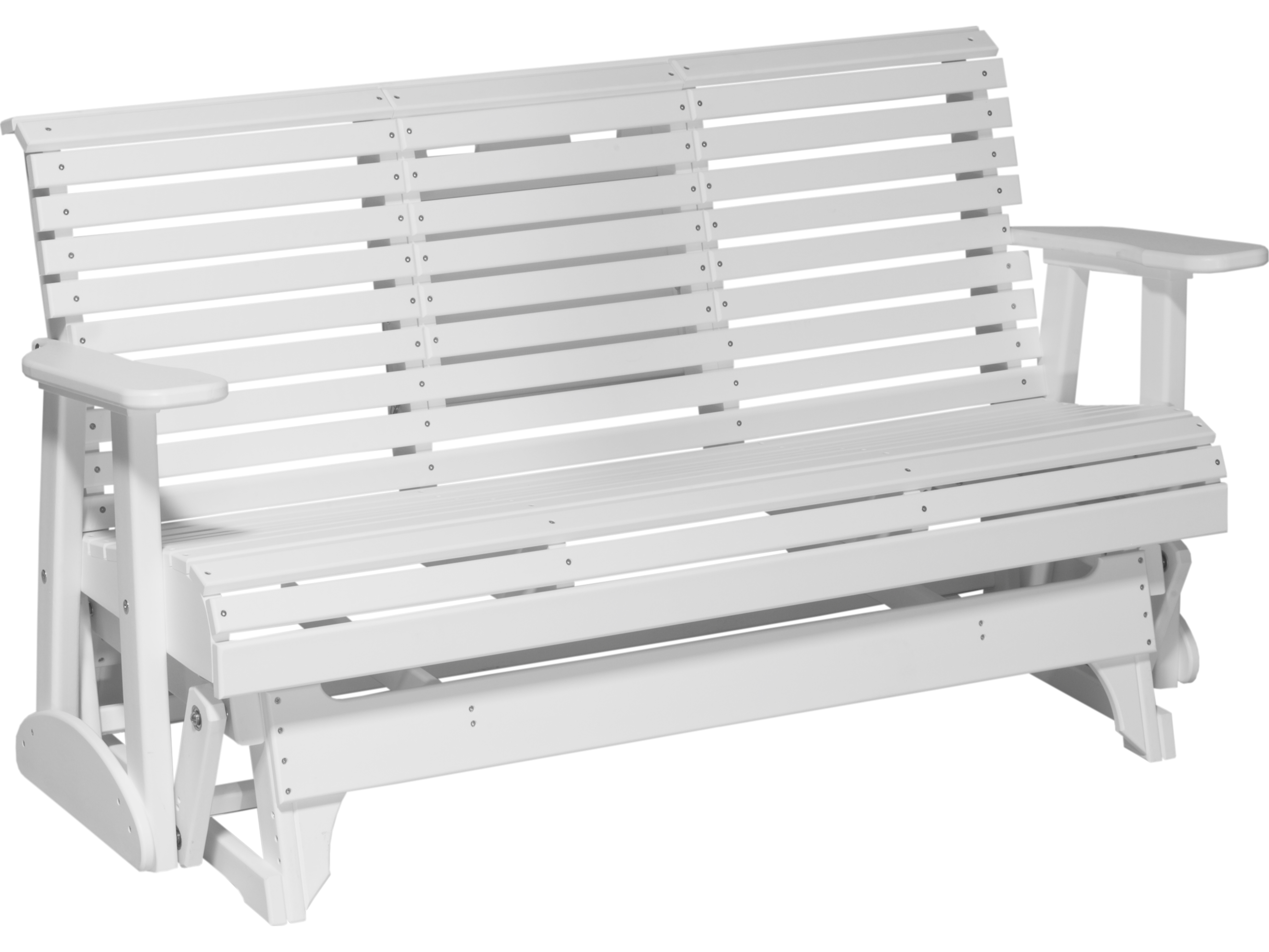 Luxcraft Recycled Plastic 5 39 Plain Glider Loveseat 5ppg