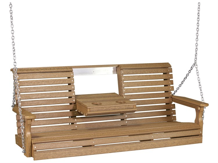 LuxCraft Recycled Plastic 5' Plain Swing