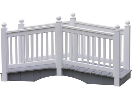 LuxCraft Recycled Plastic 8' Vinyl Bridge - White
