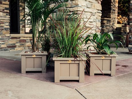 LuxCraft Recycled Plastic Accessories Planter Set