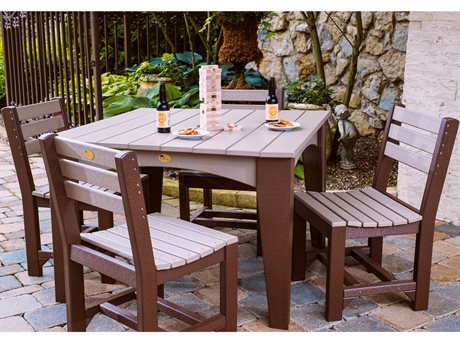 LuxCraft Island Table Dining Set
