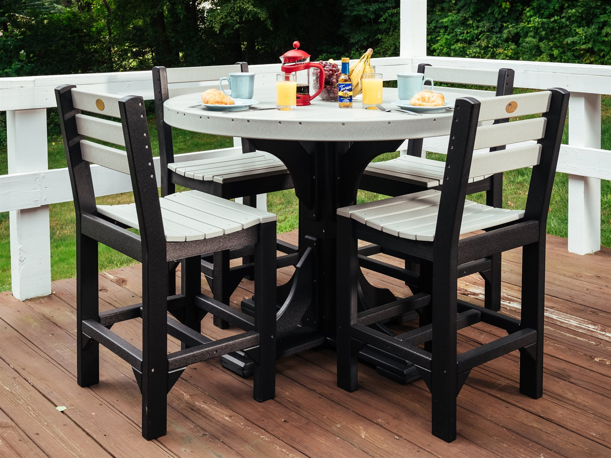 Luxcraft Poly 4 Round Table Dining Set Luxdiningset5