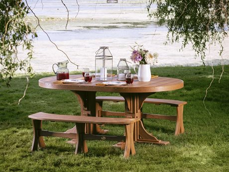 LuxCraft Poly Oval Table Dining Set