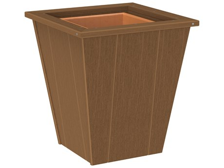LuxCraft Recycled Plastic Elite 18'' Wide Square Planter