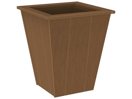 LuxCraft Recycled Plastic Elite 22'' Wide Square Planter