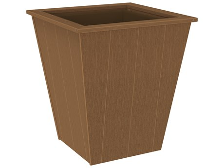 LuxCraft Recycled Plastic Elite 26'' Wide Square Planter