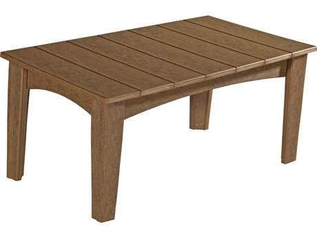 LuxCraft Recycled Plastic 39 x 22 Rectangular Island Coffee Table
