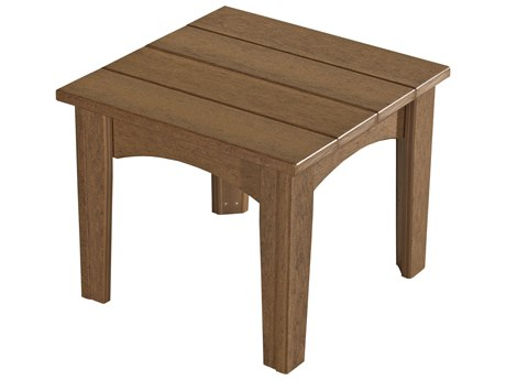 LuxCraft Recycled Plastic 22 Square Island End Table LUXIET