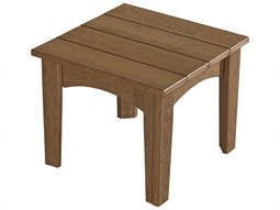 LuxCraft Recycled Plastic 22 Square Island End Table