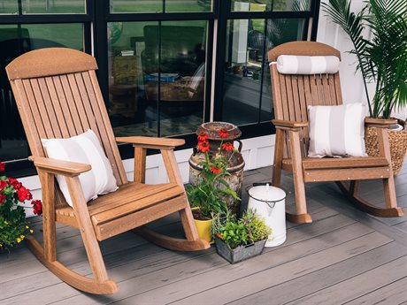 LuxCraft Poly Porch Rocker Lounge Set