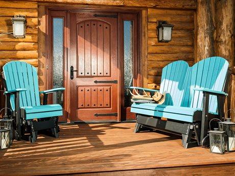 LuxCraft Adirondack Poly Glider Lounge Set