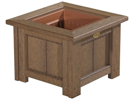 LuxCraft Recycled Plastic 15 Square Planter