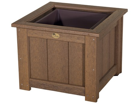 LuxCraft Recycled Plastic 24 Square Planter