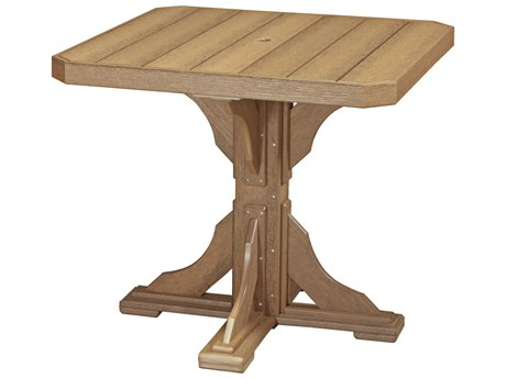 LuxCraft Recycled Plastic 41 Square Counter Height Table with Umbrella Hole