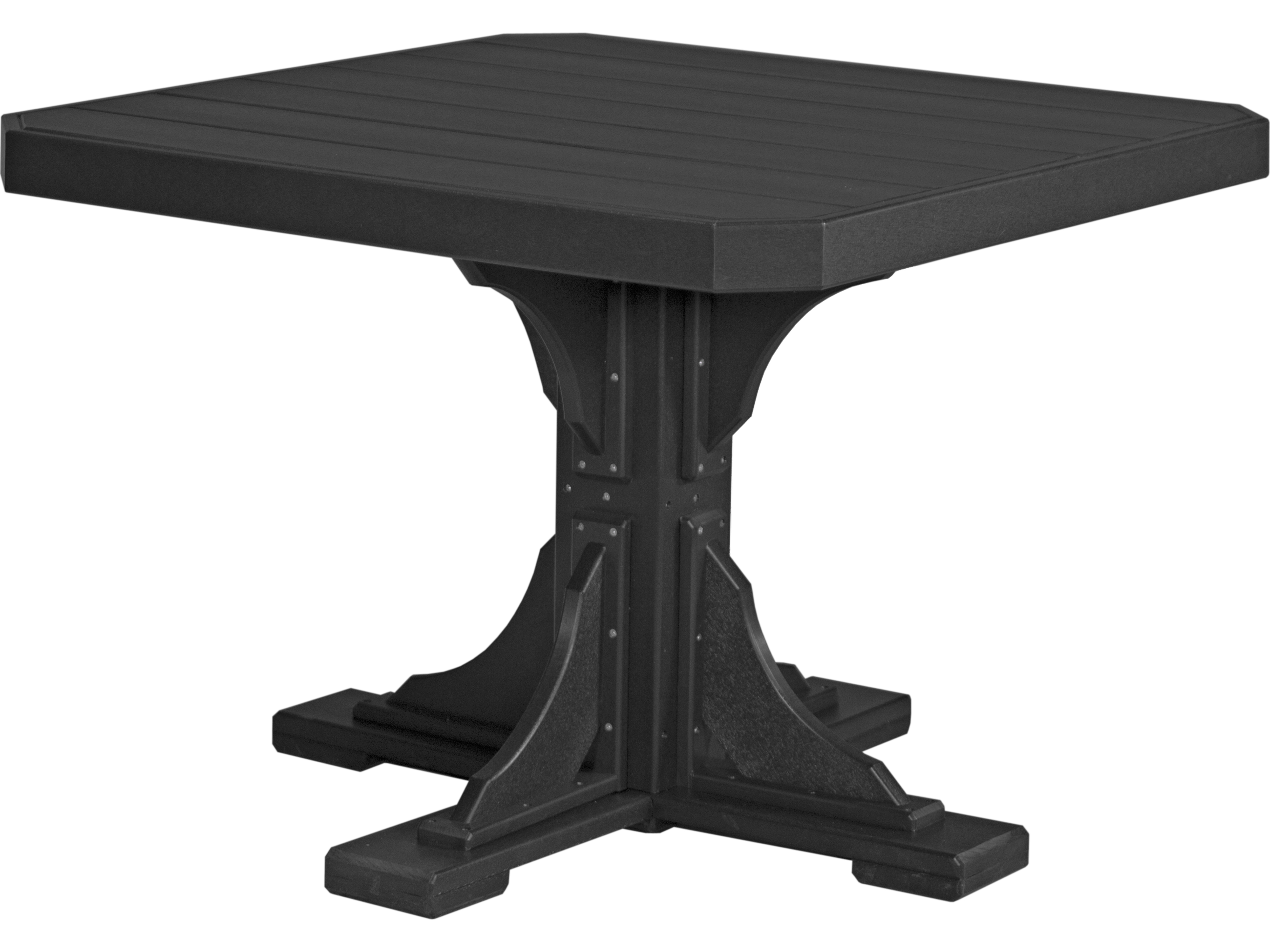 Luxcraft Recycled Plastic 41 Square Dining Height Table With Umbrella Hole P41st Dining