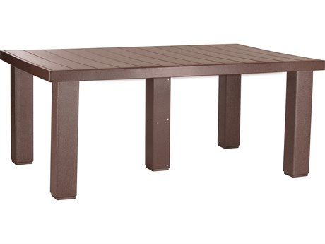 LuxCraft Recycled Plastic 4x6' Contemporary Table