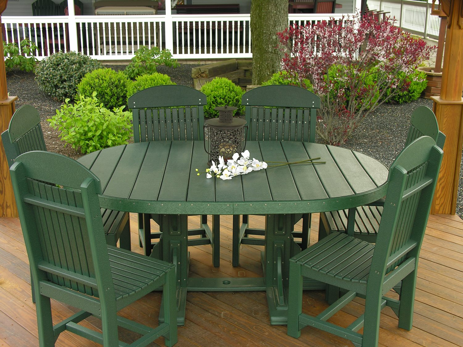 LuxCraft Recycled Plastic Dining Set   P46OT-DININGSET3
