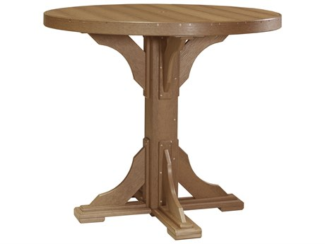 LuxCraft Recycled Plastic 48 Round Bar Height Table with Umbrella Hole