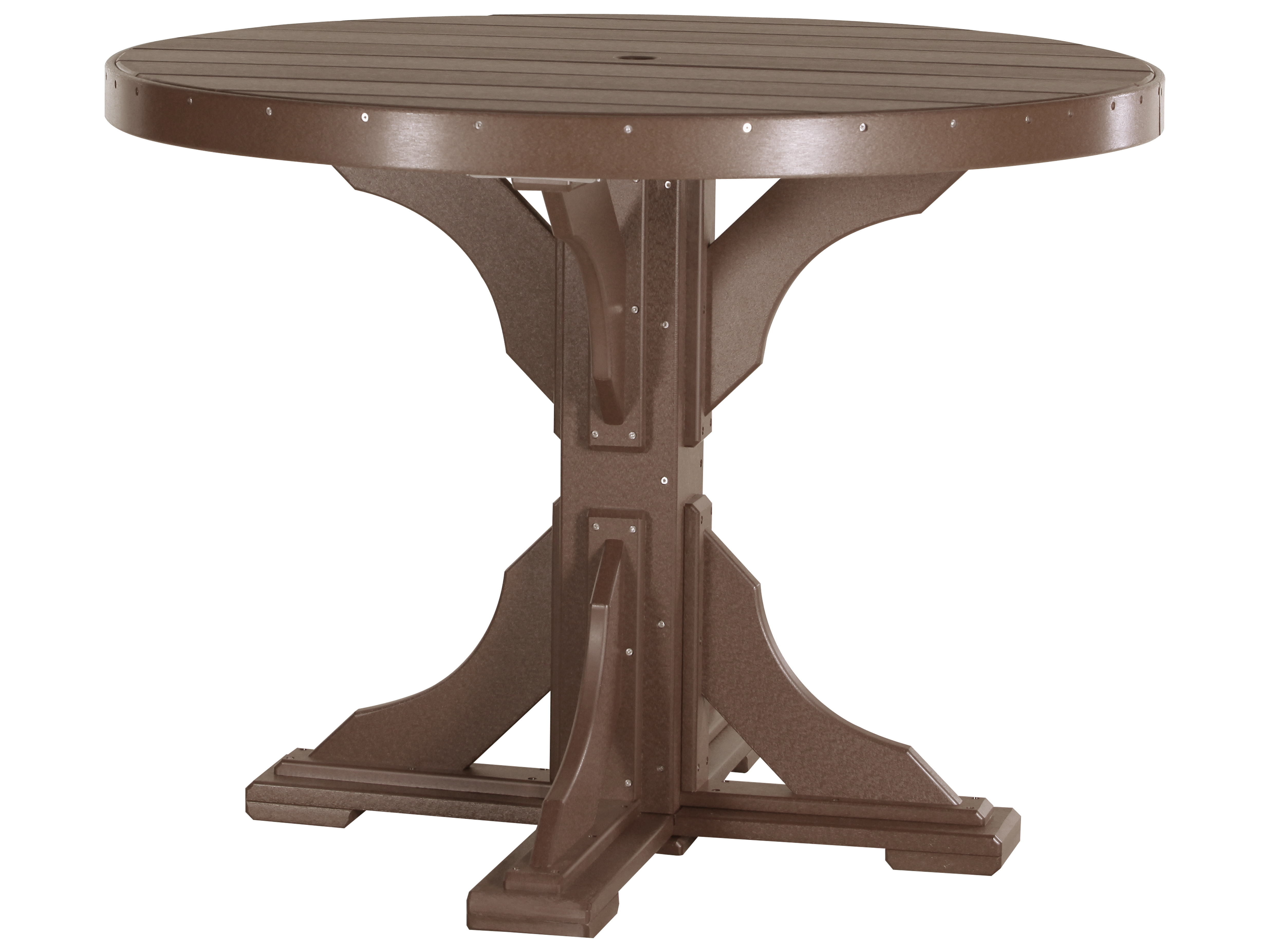 Luxcraft Recycled Plastic 48 Round Counter Height Table