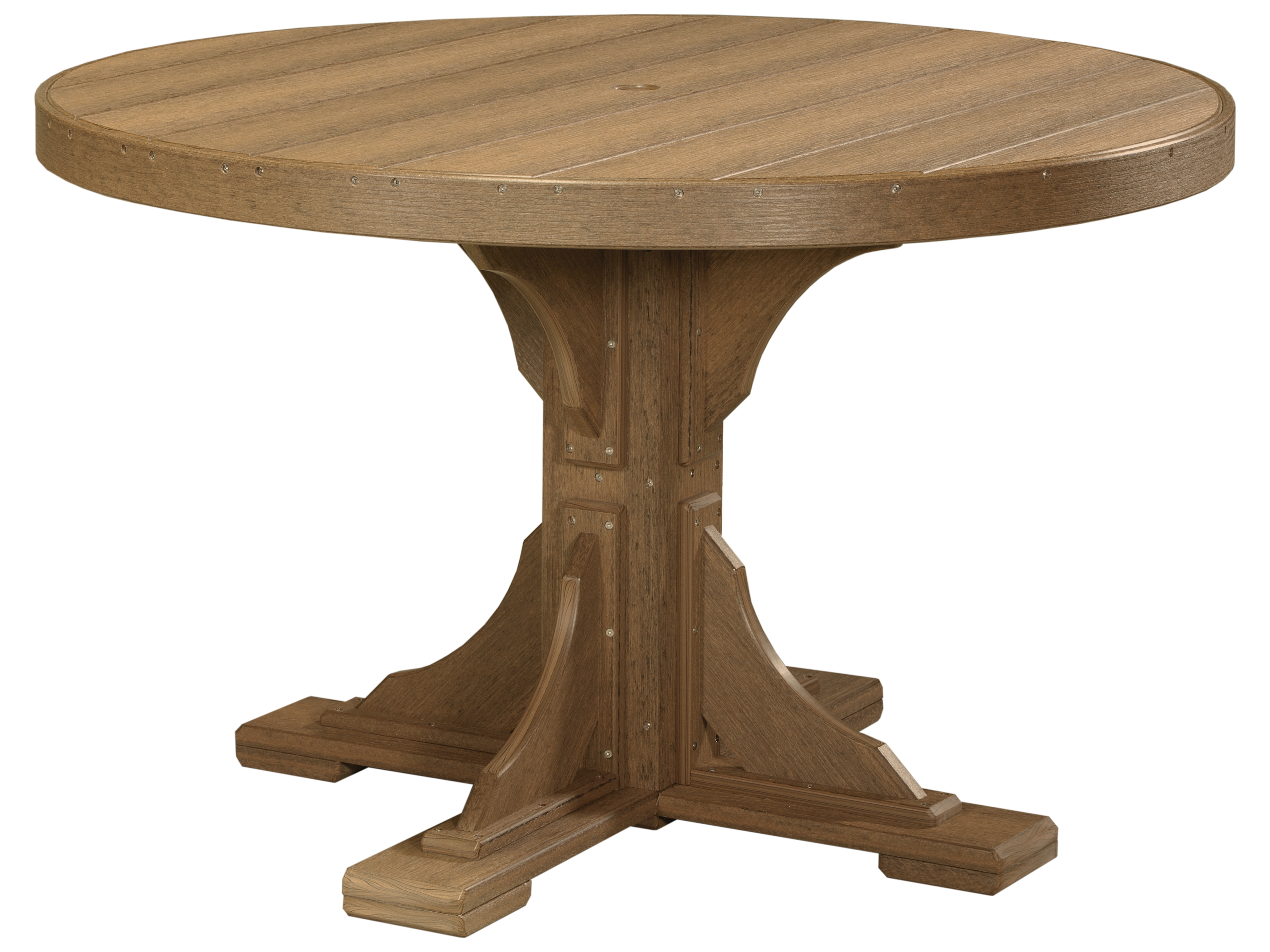 Luxcraft Recycled Plastic 48 Round Dining Height Table