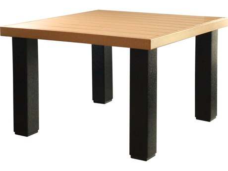 LuxCraft Recycled Plastic 48 Square Contemporary Table