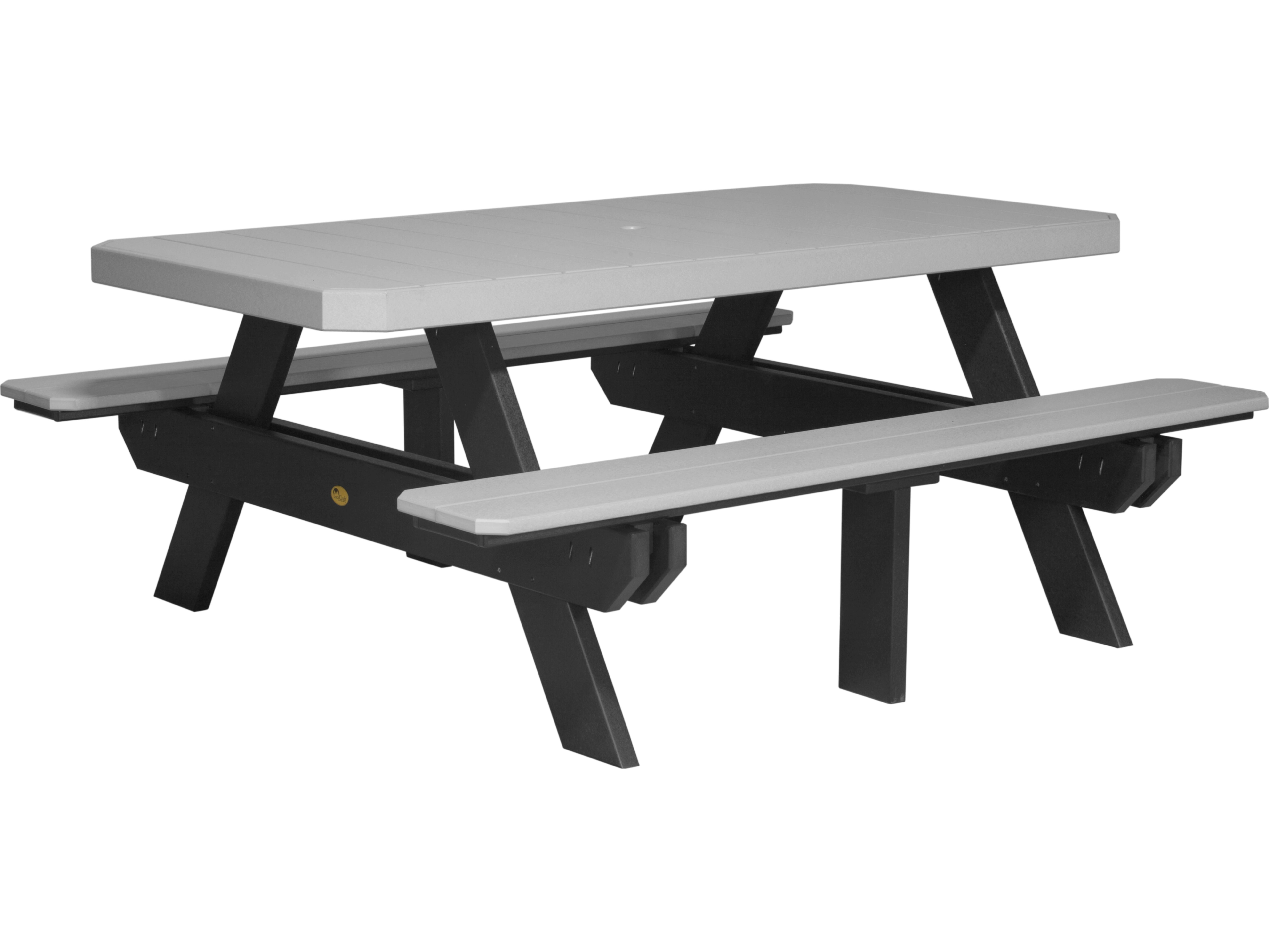 Sensational Luxcraft Recycled Plastic 73 5 X 64 Rectangular Picnic Table Download Free Architecture Designs Oxytwazosbritishbridgeorg