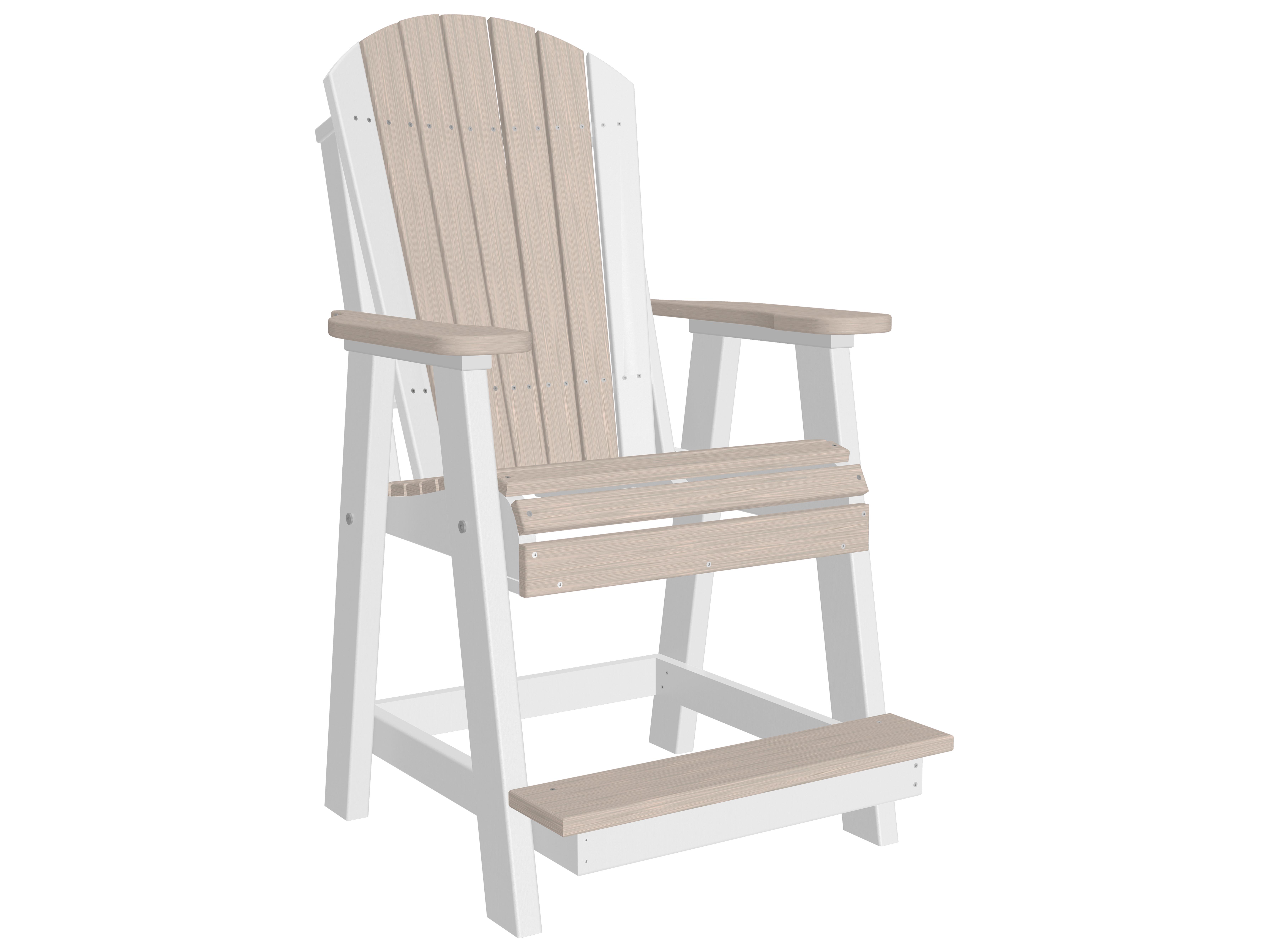 Luxcraft Recycled Plastic Adirondack Balcony Chair Pabc