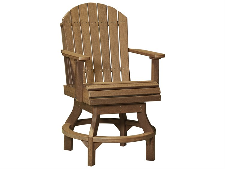 LuxCraft Recycled Plastic Adirondack Swivel Counter Height Chair