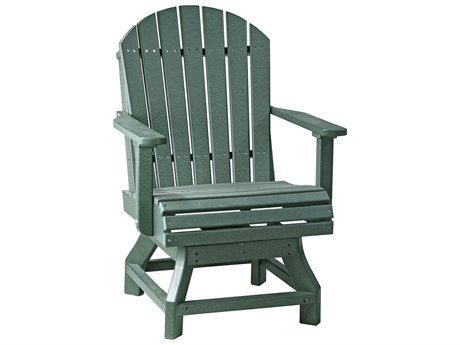 LuxCraft Recycled Plastic Adirondack Swivel Dining Height Chair